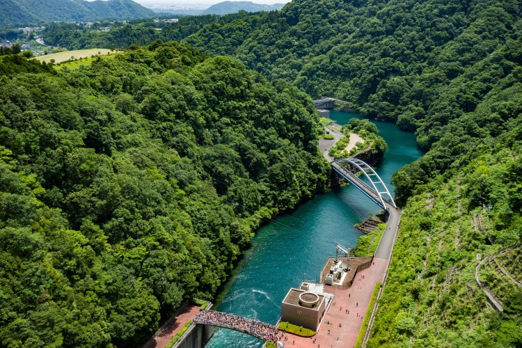 宮ケ瀬ダムからの眺め