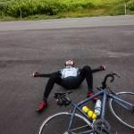 ロードバイクの宿命、初めての立ちごけ!